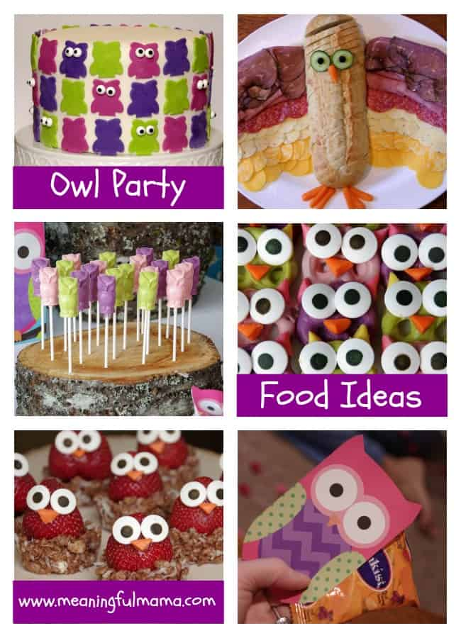 owl food party ideas