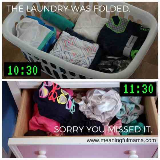 the laundry was folded