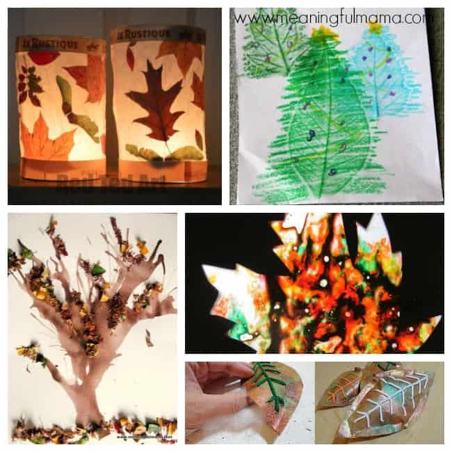 8 leaf crafts activities kids