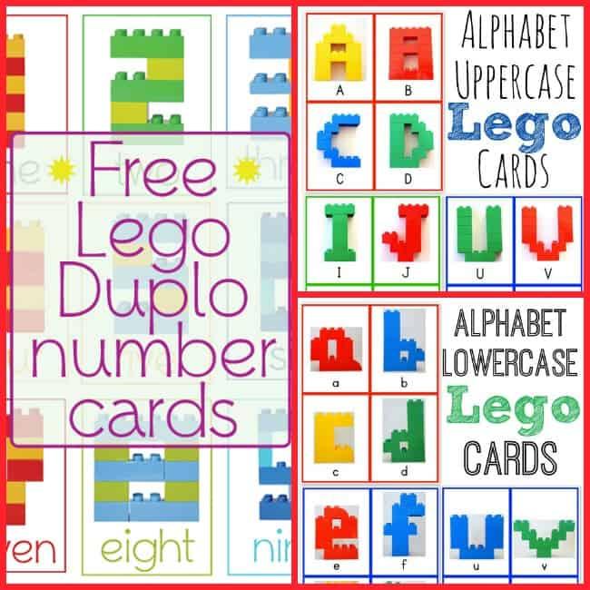 LEGO DUPLO number letter cards free