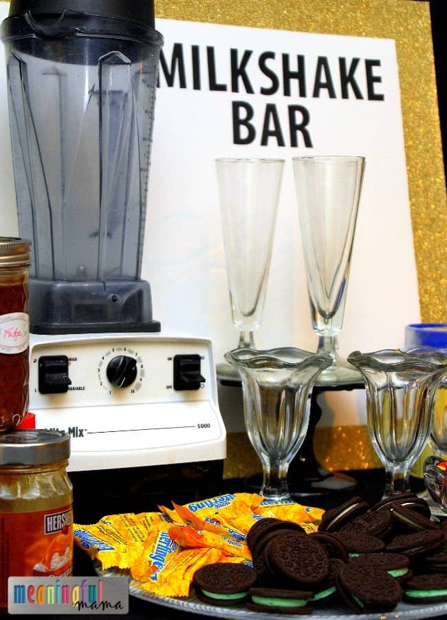 milkshake bar new years party idea
