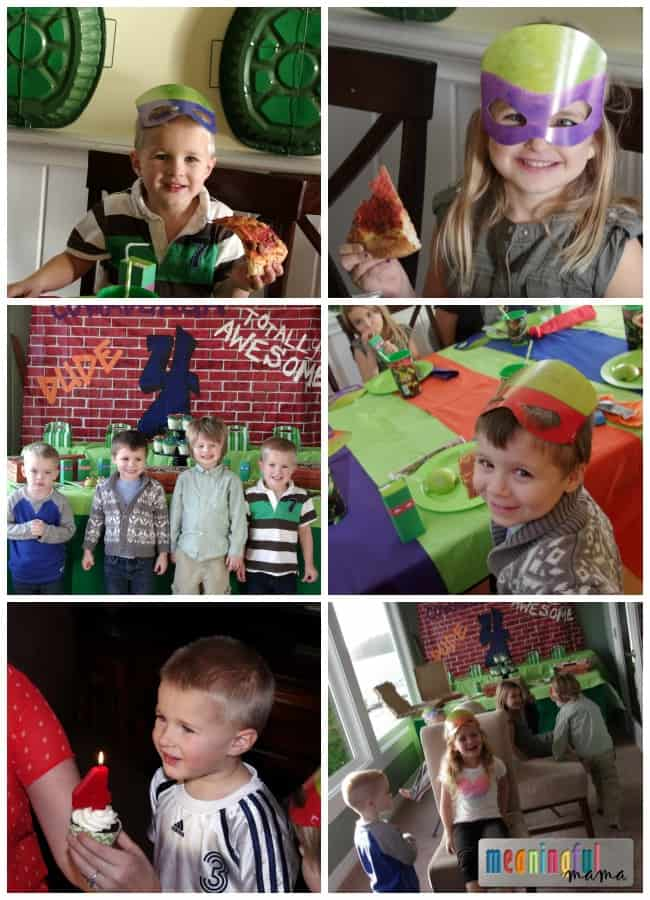 teenage mutant ninja turtle party ideas decorations food