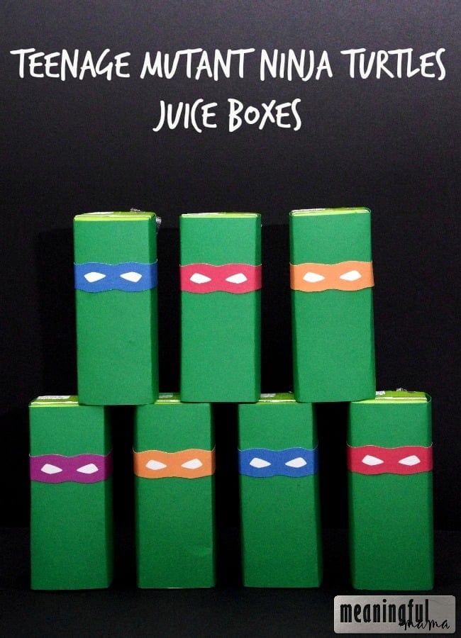 teenage mutant ninja turtles juice boxes printable