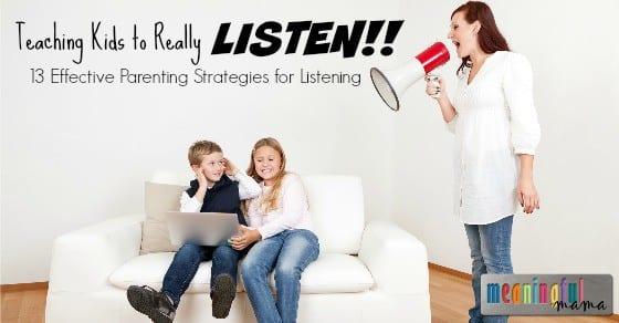 How to Teach Kids to Listen