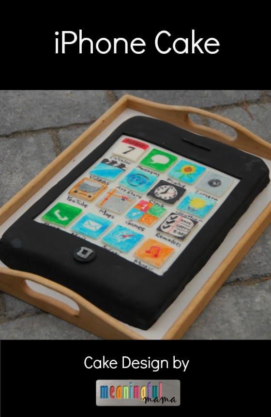 iPhone Cake Birthday Design
