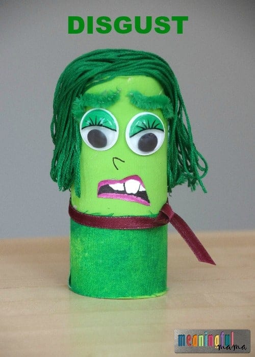 Inside Out Toilet Paper Roll Craft - Disgust