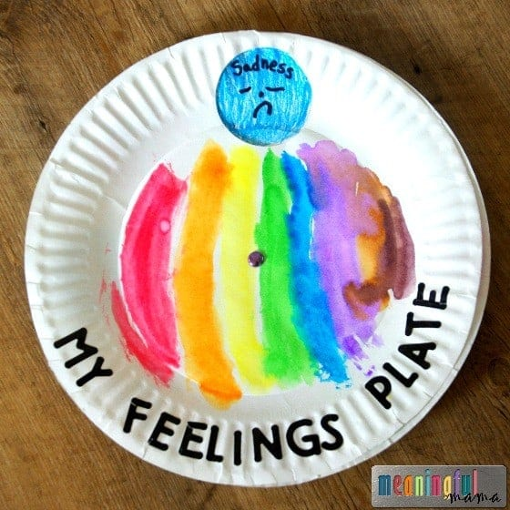 My Feelings Plate - Helping Kids Identify their Emtions
