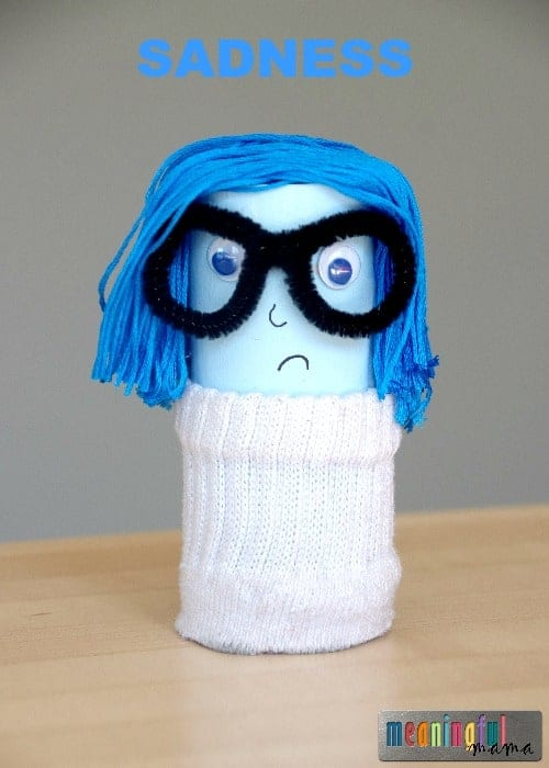 Pixar Inside Out Toilet Paper Roll Craft - Sadness