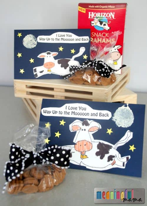 Teaching Kids to Draw a Cow & I Love You Way Up to the Moon and Back Card and Lunchbox Surprise