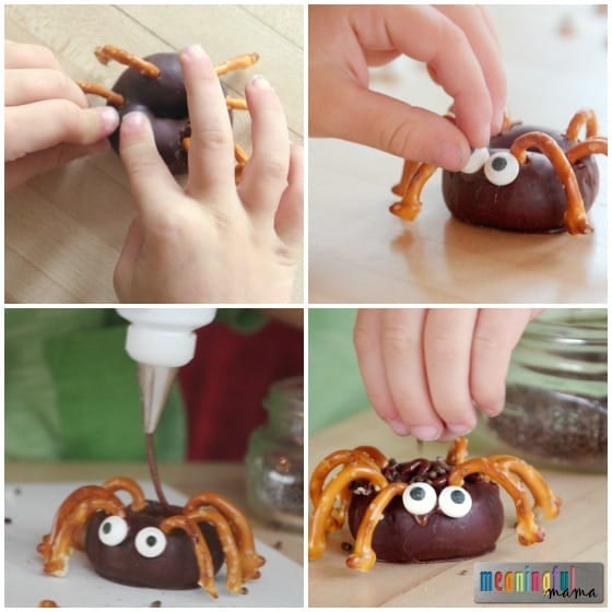 How to Make Easy Mini Spider Donuts