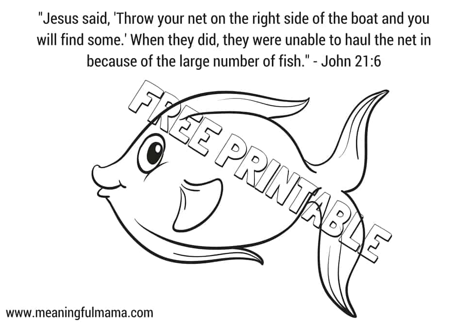 Jesus and the Miraculous Catch of Fish Craft