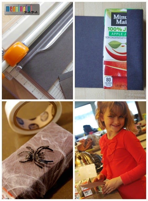 Spider Juice Boxes - Harvest and Halloween Food and Drink Ideas