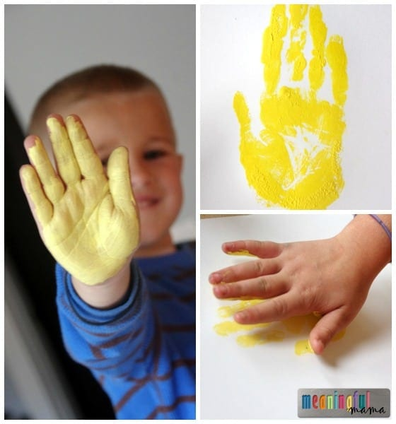 Indian Corn Handprint Craft for Kids