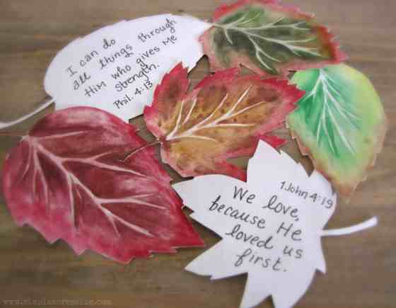art fall leaves scripture