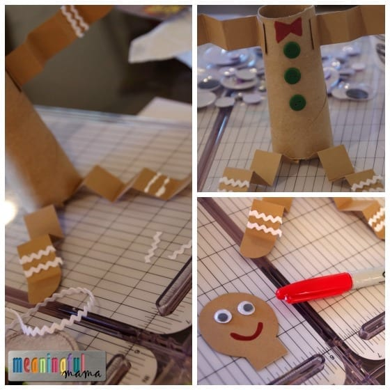 Toilet Paper Roll Christmas Gingerbread Craft