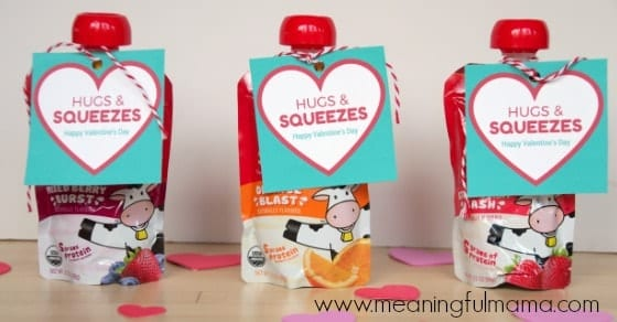 Hugs and Squeezes Valentine's Day Snack Printable