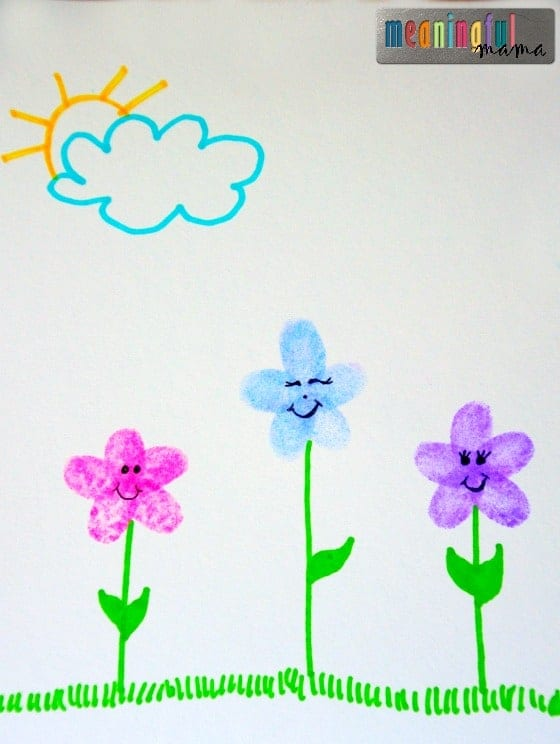 Fingerprint Flower Craft Apr 7, 2016, 1-36 PM