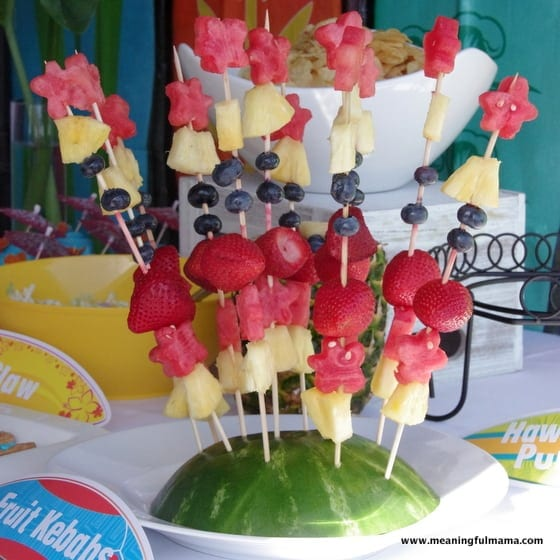 Fruit Kebabs - Food Ideas for Luau or Hawaii party
