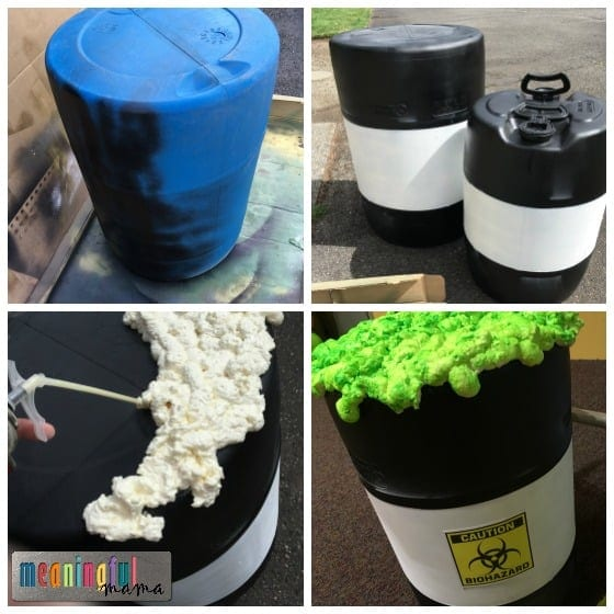 VBS Science Decorations - Toxic Waste Barrel
