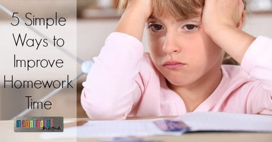 5 Simple Ways to Improve Homework Time with Kids