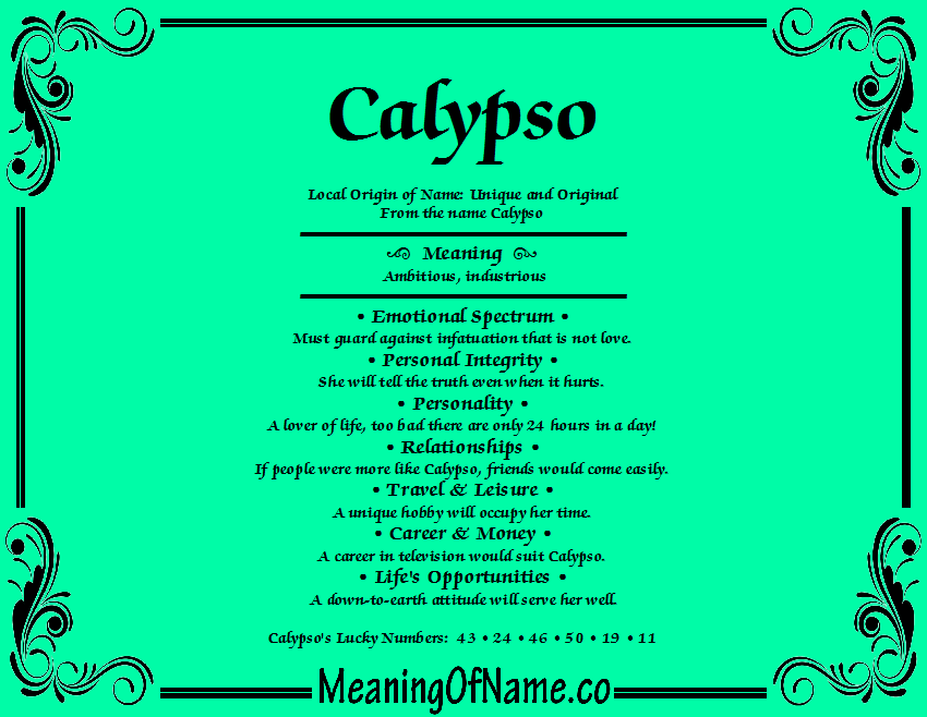Calypso - Meaning of Name