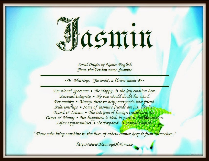 Jasmin - Meaning of Name