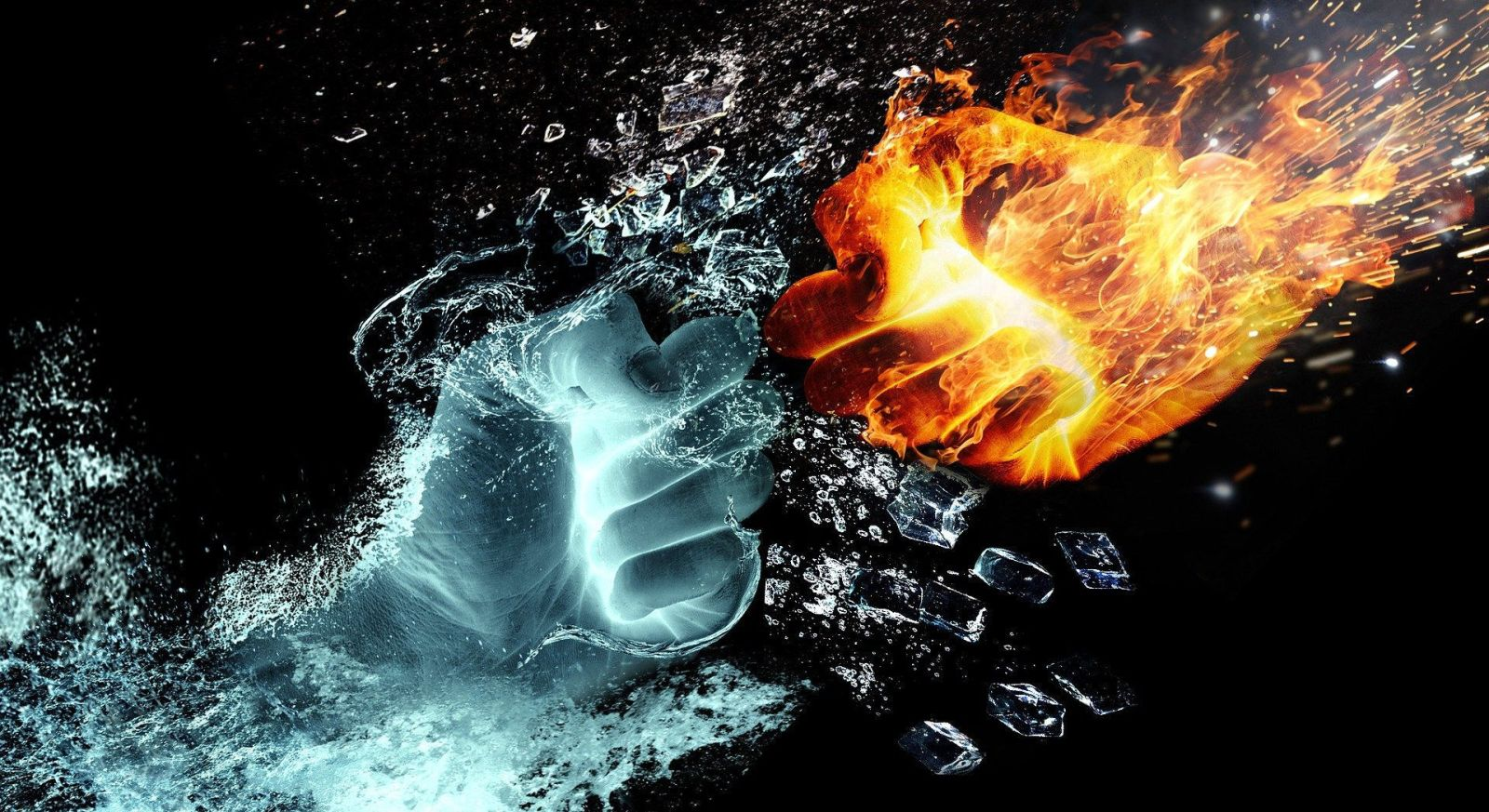 Fists of fire and water