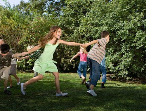 Play dates Children playing in garden