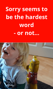 Sorry seems to be the hardest word #kids #humour #children #apology #parenting #mom #mum #sorrynotsorry