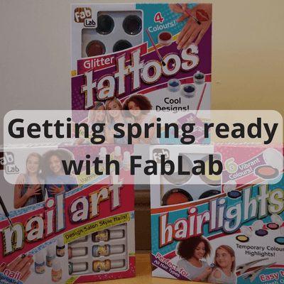 Getting S;ring ready with FabLab cosmetics #hair #nails #tattoo #haircolour #haircolor #nailart #glittertattoo #kidscrafts