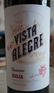 Vista Alegre label