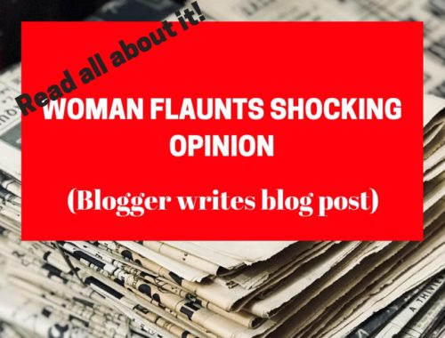 woman flaunts shocking opinion