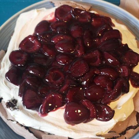 Cherry Chocolate pavlova recipe