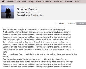 LEGAL lyrics of song courtesy iTunes purchase