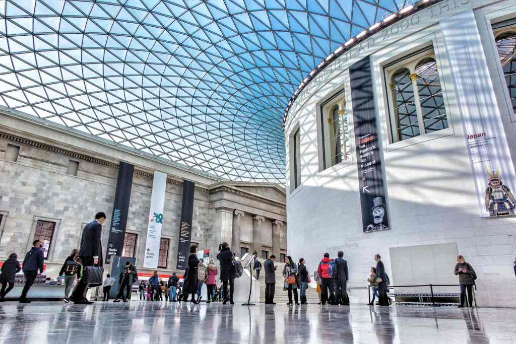 stunning architecture of the great court in the British Museum