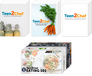 image of all material for teen2chef program