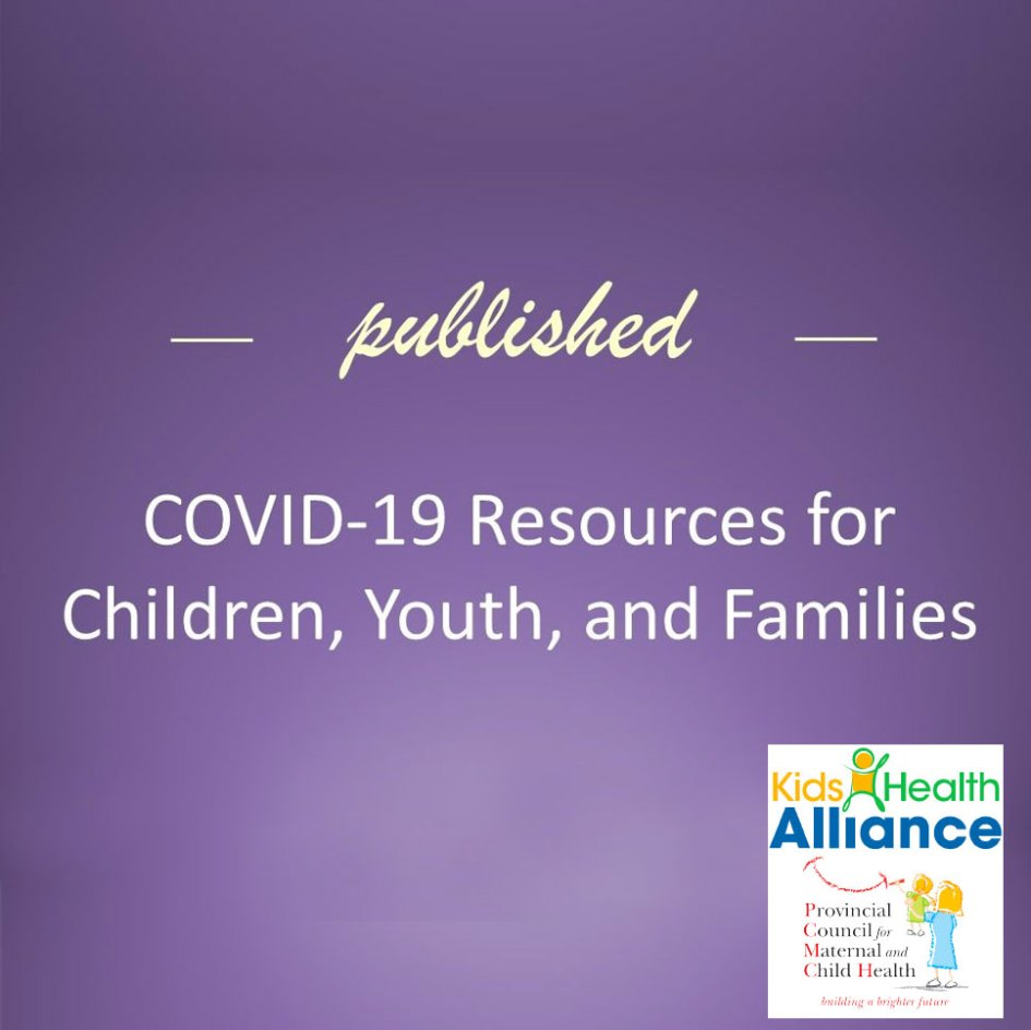 covid-19 resources from kids health alliance and PCMCH