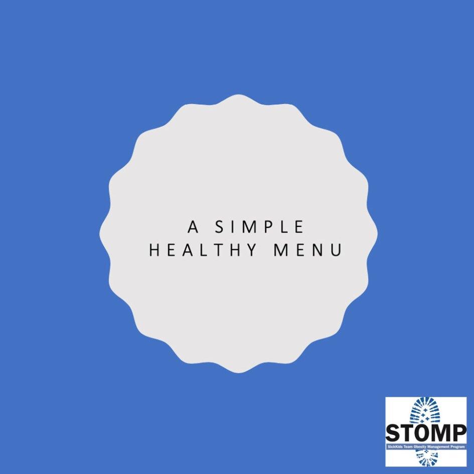 simple healthy menu meal plan