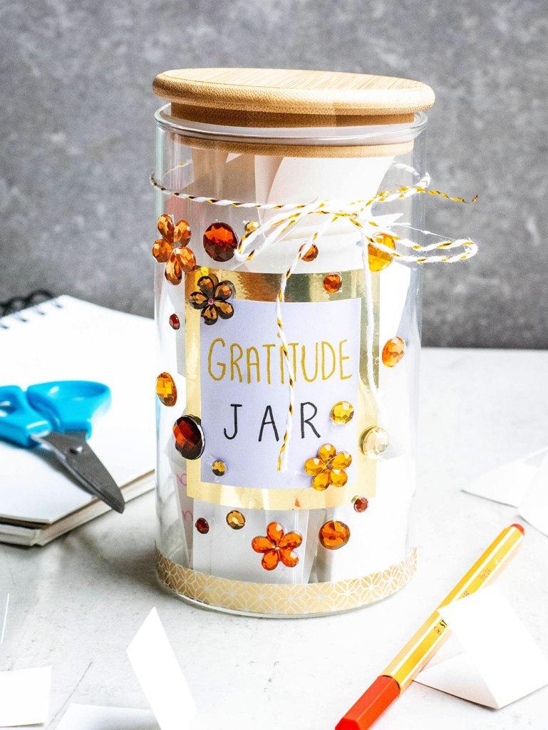 finished jar with paper