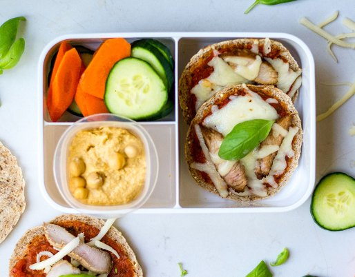 Pizza Lunchables bento box
