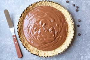 pie crust with chocolate