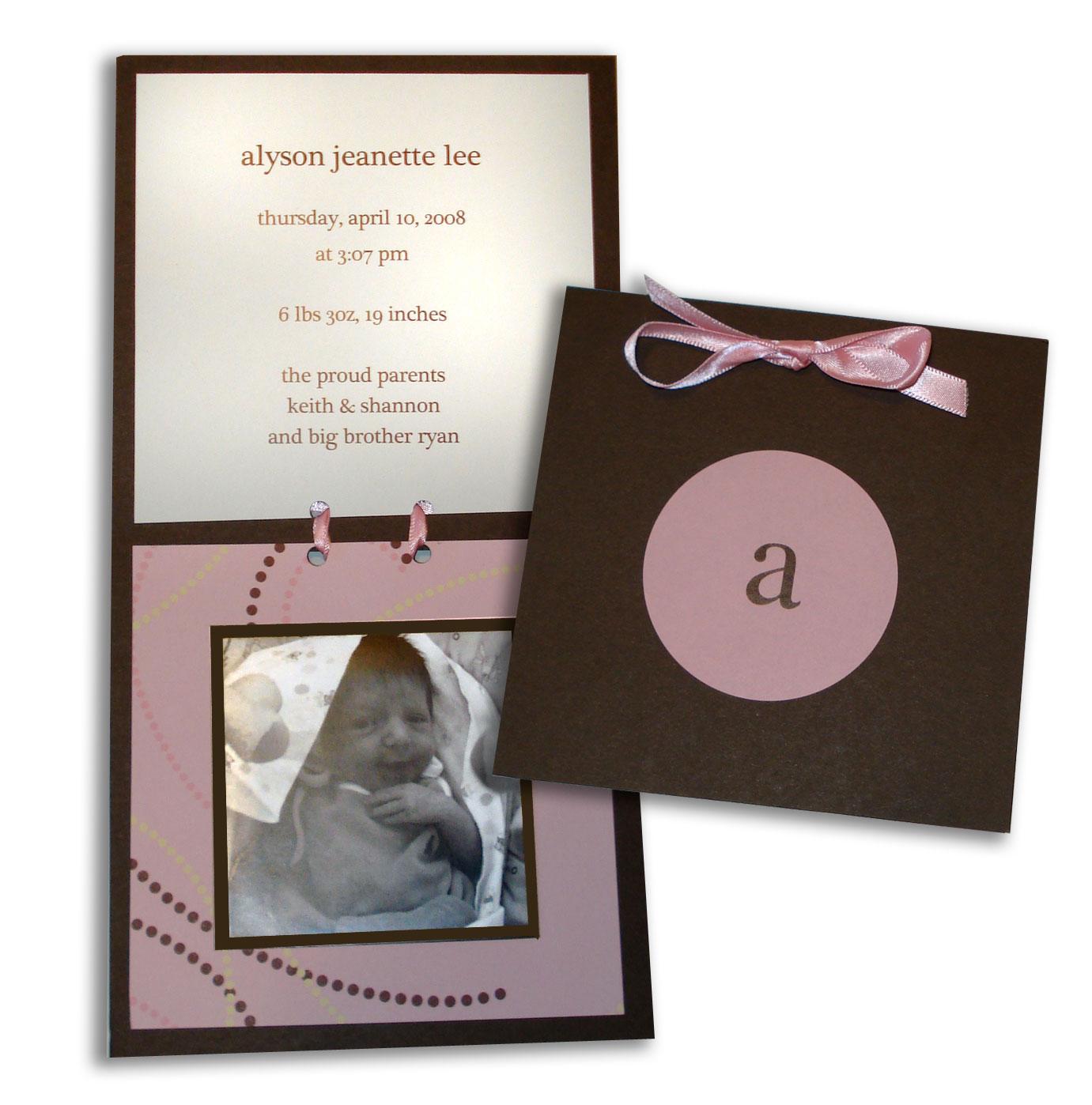 alyson birth announcement