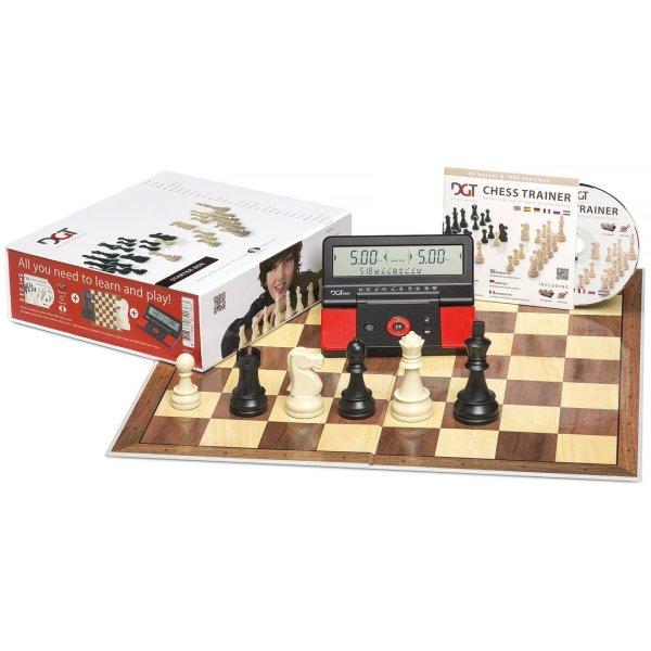 Kit de xadrez com peças, tabuleiro e relógio DGT 906