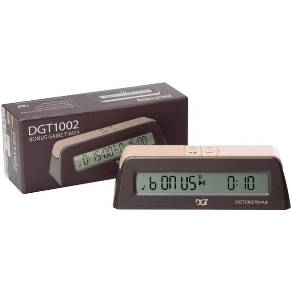 Relógio digital de xadrez DGT 1002 pequeno com bonus