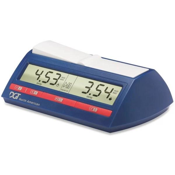 Relógio digital de xadrez DGT North American Azul com botões vermelhos