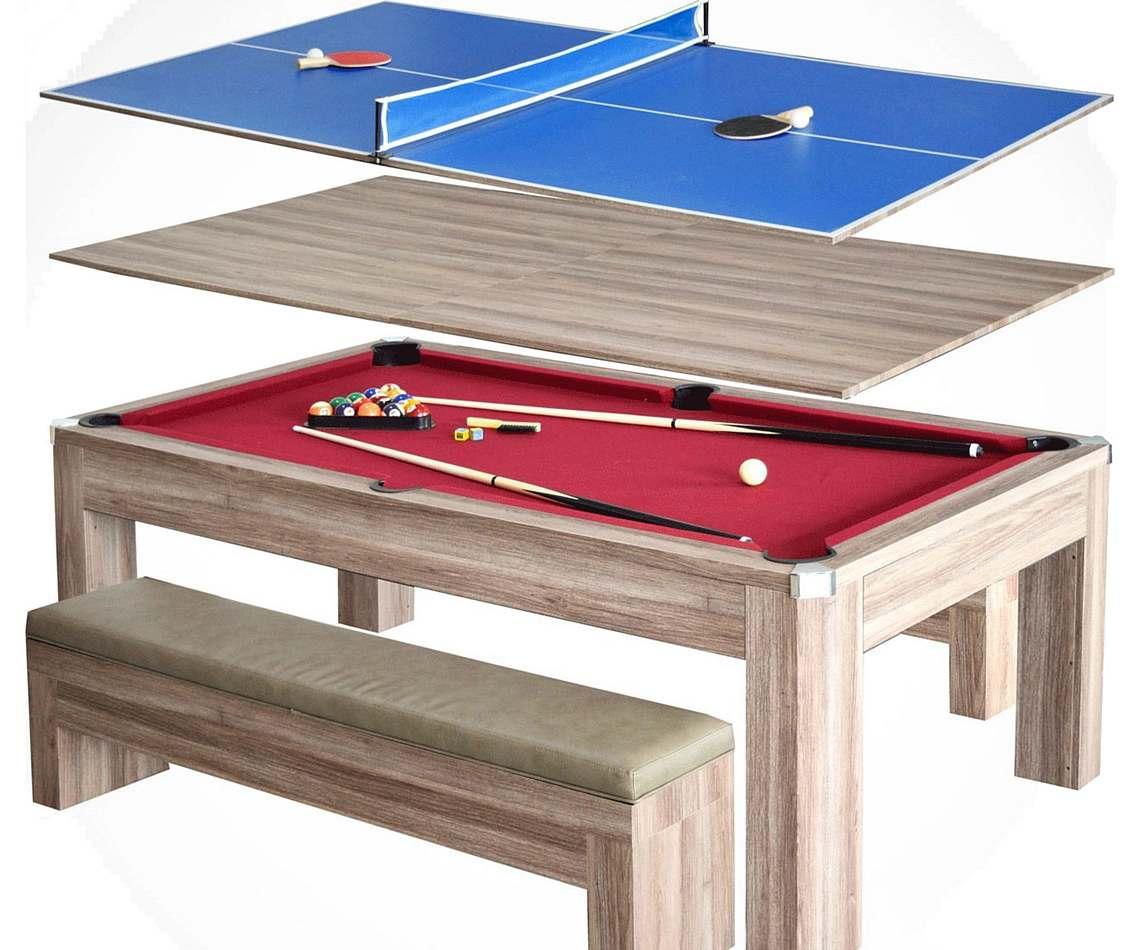 Mesa de billar comedor y ping pong 3en1  Me Arruin