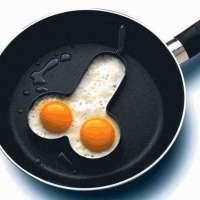Moldes para huevos fritos con forma de pene