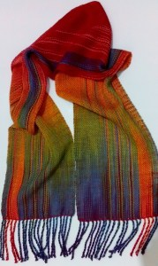 Faux Ikat Scarf