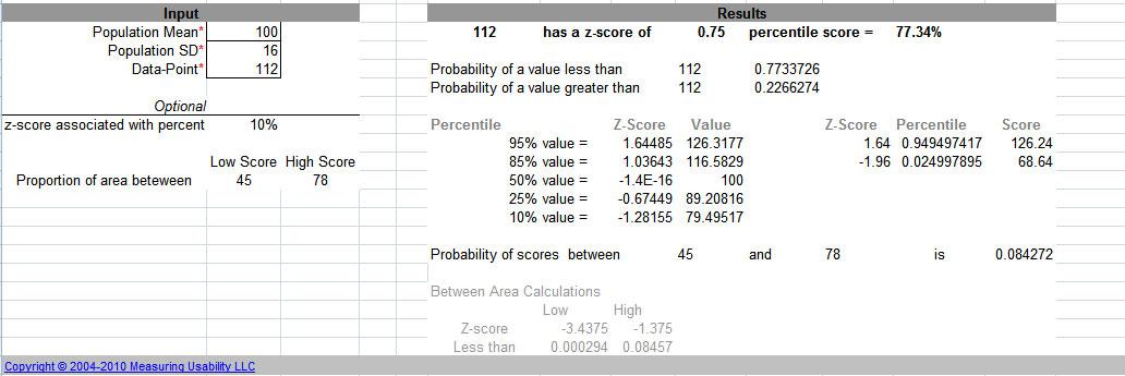 Measuringu Zscore Calculator
