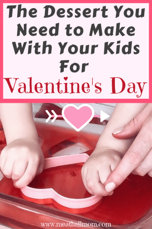 Valentine jell-o jigglers make a great dessert and toddler activity for your little one! #valentinesday #valentinedesserts #valentineactivity #valentinedessertidea #dessert #valentineideas